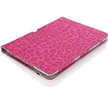 MoKo–Funda fina y plegable para Tablet Samsung Galaxy Note Pro 12.2, Tab 3Lite 7, Tab 47.0, Tab 48.0, Tab 410.1, Tab Pro 8.4, Tab Pro 10.1 leopardo rojo para Galaxy Note Pro 12,2