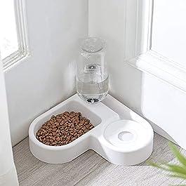 2 in 1, Animale Domestico Alimentatore Cibo Per Gatti Cani Distributore Automatico Di Cibo, Collocare L'angolo, Non Occupare Lo Spazio Famiglia