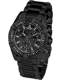 Jacques Lemans Herren-Armbanduhr XL Liverpool Professional Chronograph Quarz Edelstahl beschichtet 1-1805J