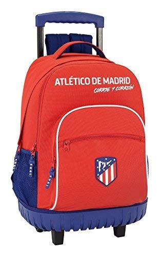 Safta Mochila Escolar Grande Con Ruedas Atlético De Madrid 'Coraje' Oficial 320x140x460mm
