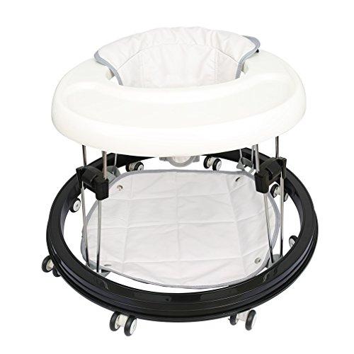 Fascol Kindestuhl Laufstuhl Babystuhl Lauflernhilfe justierbar in der Sitz-Tuch (40-42-44cm) - Weiß
