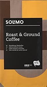 Amazon Brand Solimo Ground Coffee Compatible with all use - UTZ certified, 2 kg (4 x 500g)