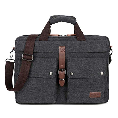 BAOSHA Leinwand Herren Aktentasche Businesstaschen Laptoptasche für 14~17 Zoll Laptop Notebook Arbeitstasche