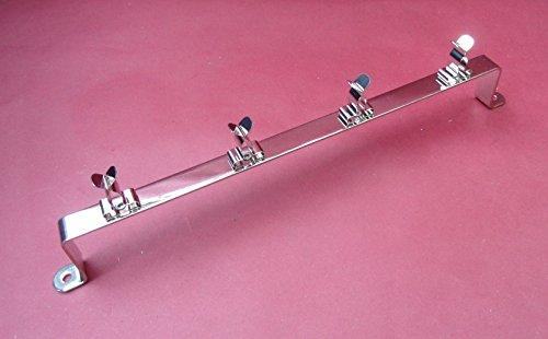 Preisvergleich Produktbild 1-2x,  für 4 x Weinglas-Halter. Metall. Schwarz Nickel. Wohnmobil / Wohnwagen / Zuhause / statisch. 260 mm lang