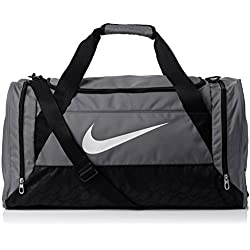 Nike Sporttasche Klein Brasilia 6 Small Duffel Bolsa, Unisex adulto, Gris / Negro, Talla Única