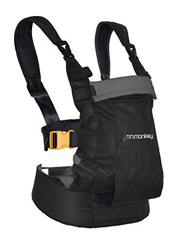 02a97c45d6ca Minimonkey mm-bc-nerogri Porte-bébé ergonomique Dynamic 4 en 1, résistant