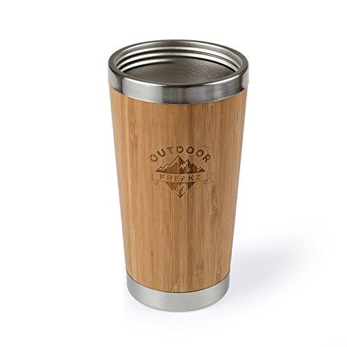 Kaffee Thermobecher aus Bambus von OUTDOOR FREAKZ – 450 ml - 6