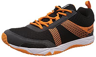 Reebok Men's Tempo Speedster Black, Gravel, Nacho and White Running Shoes - 10 UK/India (44.5 EU)(11 US)