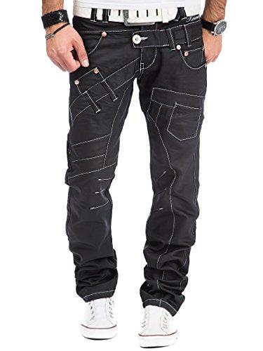 Kosmo Lupo Herren Jeans Hose Schwarz - KM030-1