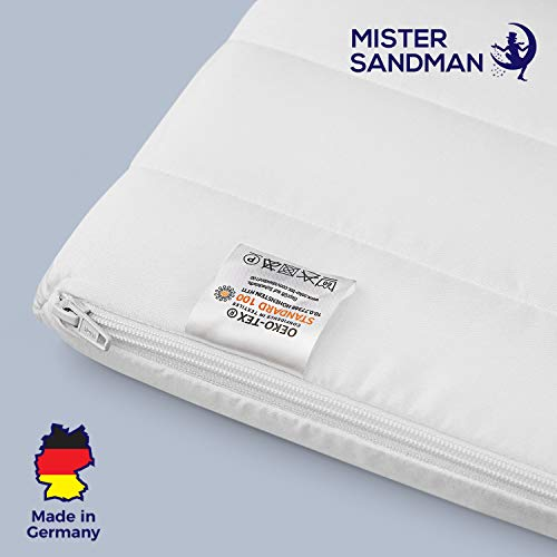Mister Sandman weicher Topper aus Kaltschaum für ergonomisches Liegen - punktelastische und atmungsaktive Matratzenauflage/Matratzenschoner für alle Matratzenarten, (80 x 190 cm, Mikrofaserbezug)