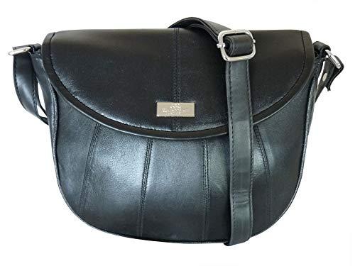 Quenchy London QL185K, Sac pour femme à porter à l'épaule Noir Noir Taille M