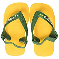 Havaianas Baby Brasil Logo II Kids Sandals 6.5 M US Toddler Banana Yellow