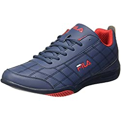 Fila Men's Sterling II Nvy and Rd Sneakers - 9 UK/India (43 EU)(11004535)