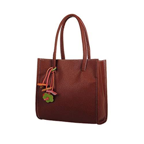 Preisvergleich Produktbild Felicove Fashion Elegante Mädchen Handtaschen Leder Umhängetasche candy Farbe Blumen Damen Tote