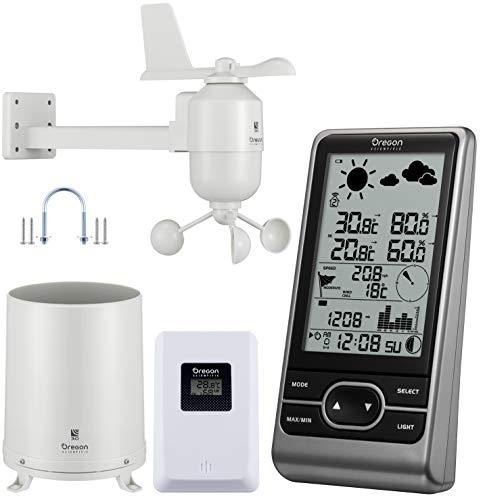 Oregon Scientific Wetterstation Funk mit Außensensor WMR86NX zum Messen von Temperatur, Luftfeuchtigkeit, Wind, Luftdruck und Niederschlag (Regenmesser)