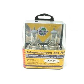 Filmer 16063 Halogenlampen-Set, H4 Xenon Paar