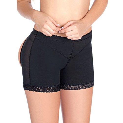 Lelinta Gesäß-Unterhose, für 3-5 Tage Lieferung, volle Passform, Bauchkontrolle - schwarz - Large(Passen Für Taille:27