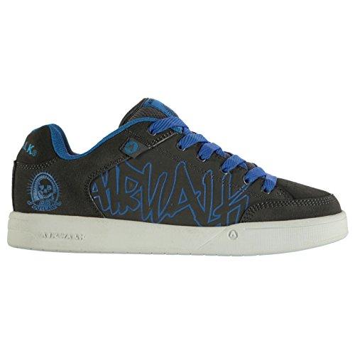 Airwalk Kinder Jungen Outlaw Skate Schuhe Skaterschuhe Sneaker Turnschuhe Dark Grey/Blue