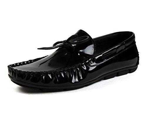 Scarpe Uomo in Pelle Peas Shoes Scarpe da uomo in pelle per il tempo libero ( Colore : Vino rosso , dimensioni : EU42/UK7.5 ) Nero