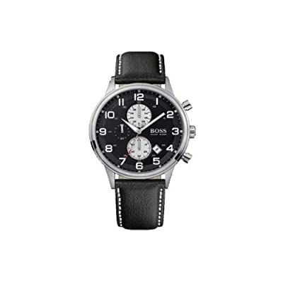 Hugo Boss 1512569 - Reloj analógico de caballero de cuarzo con correa de piel negra de Hugo Boss