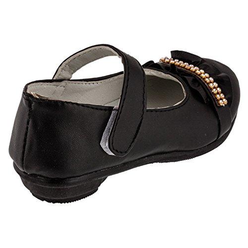 Kinder Mädchen Ballarina Schuhe mit Steinchen #655 Schwarz