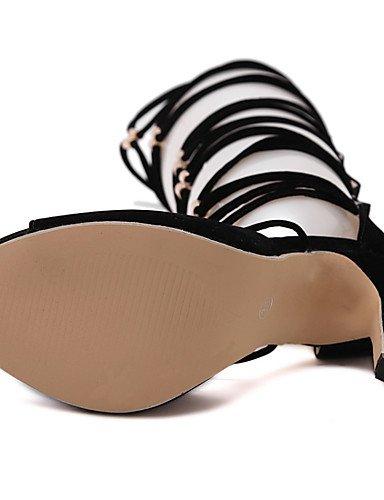 LFNLYX Chaussures Femme-Mariage / Habillé / Décontracté / Soirée & Evénement-Noir-Talon Aiguille-Talons / Confort / Nouveauté / Bottes à la Mode Black