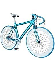 Helliot Bikes Fixie Nolita 59 Bicicleta Urbana, Hombre, Azul, Talla Única