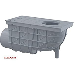 Sink and Rainwater Collector with Level, Gutter Outlet, Outlet, Flat Grey/ALCA Plast