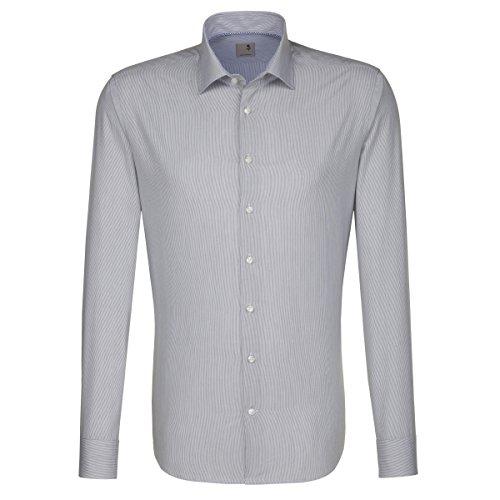 Seidensticker -  Camicia classiche  - Classico  - Maniche lunghe  - Uomo grau (0033)