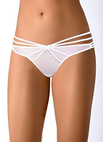 axami Damen String Weiß