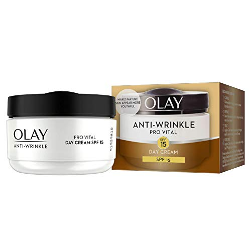 Olay Anti-Wrinkle Provital Day Cream for Mature Skin - SPF 15 - 50ml - Day Cream Olay