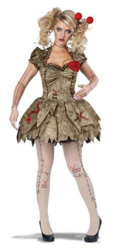 Erwachsene Voodoo Dolly Kleid Halloween (Halloween Kostüm Kleid Puppe)