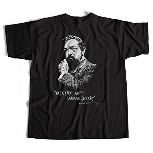 Old Skool Hooligans Claude Debussy T Shirt - Music is The Silence Between The Notes Classical