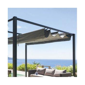 toile de remplacement pour tonnelle cabriolet carr e. Black Bedroom Furniture Sets. Home Design Ideas