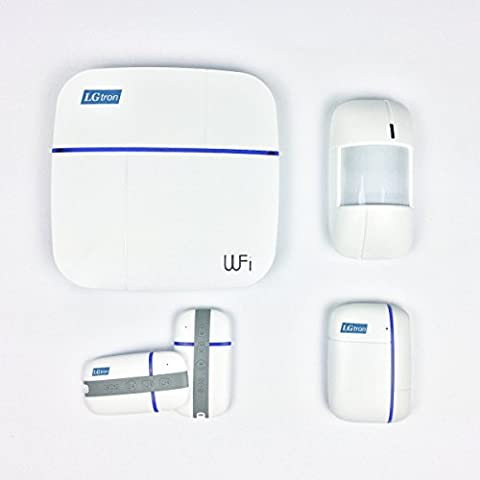 Lgtron WLAN WiFi Wireless Home Security GSM Burglar Alarm System LGD8006868MHz 2Way (2Ways) Communication Automatic Switch Wireless Network GSM, iOS/Android App Controlled Accessories. Technical