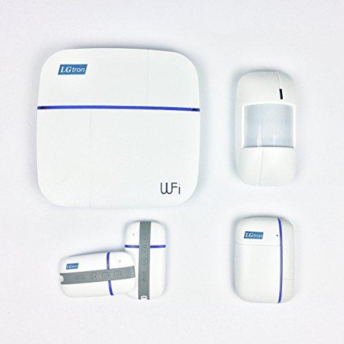 LGtron WLAN WIFI GPRS GSM Funk Alarmanlage LGD8006, 868 MHz, 2 Wege Kommunikation bidirectional, Automatisch Umschalten WLAN auf GPRS GSM, IOS Android App steuerbar, technischer Support