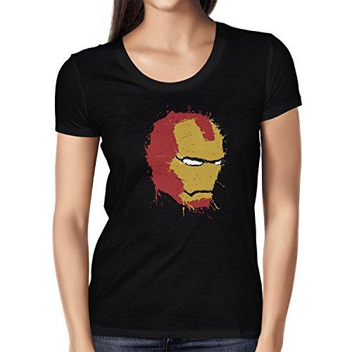 NERDO - Iron Splash - Damen T-Shirt, Größe S, schwarz