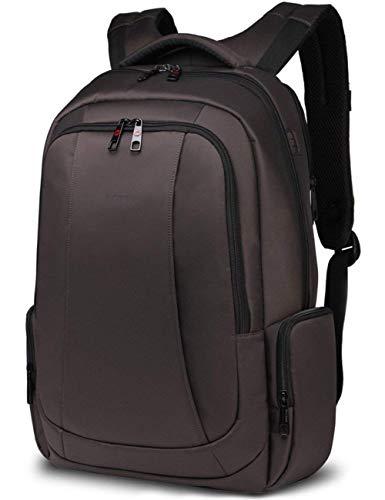 Norsens multifunktionale Computer-Notebook-Rucksack für Männer leichte Business 17 Zoll Laptop Rucksäcke in Braun - Leichte Computer-rucksack