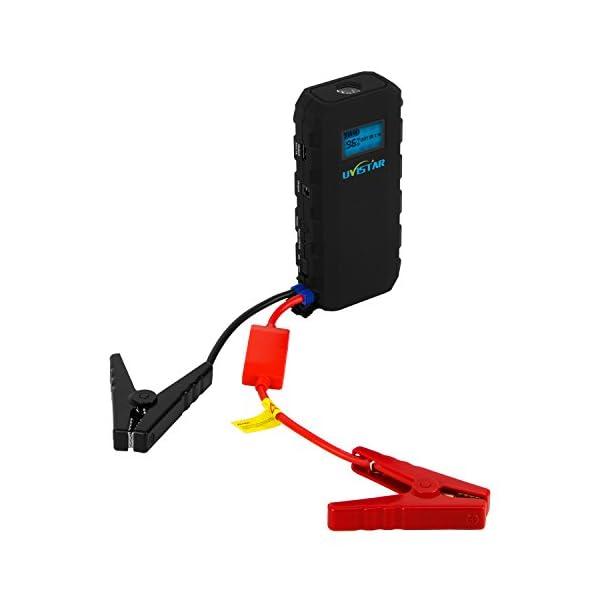 Uvistare Jump Starter Batería Arrancador de Coche con la Antorcha del LED (500A, 12000mAh, Diseño Delgado, Ultra Slim…