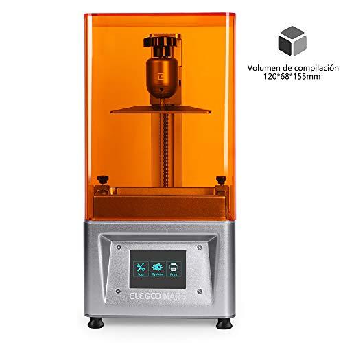 """ELEGOO MARS Impresora 3D UV Fotocurado con 3.5"""" Pantalla Táctil Inteligente de Color Impresión Fuera de Línea 120mm(L) x 68mm(W) x 155mm(H) Tamaño de Impresión-Plata"""