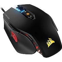 Corsair M65 Pro RGB - Ratón óptico para Juegos (retroiluminación RGB, 12000 dpi, con Cable), Negro