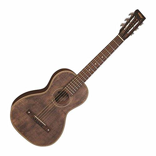 Vintage Paul Brett firma Viator Electroacústica guitarra de viaje–envejecido