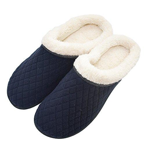 COFACE Herren Warme Slipper Hochwertige innengefütterte Hausschuhe Warme Rutschfest Winter Hüttenschuhe für Outdoor/Indoor