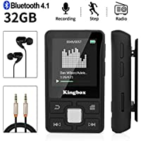 Lettore MP3 Bluetooth 32GB,MP3 player per Sport,Lossless HiFi Musicale con Radio FM Contapassi Registrazione Video E-book,Supporto Fino a 128GB