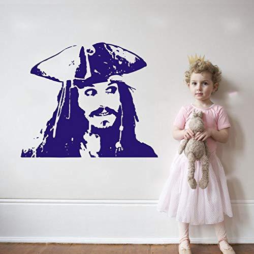 jiuyaomai CWall Sticker Aufkleber Pirates Art Adventure Dekorationen Wohnzimmer Kids Nursery Home Deor Wandbild B 3 88x74cm