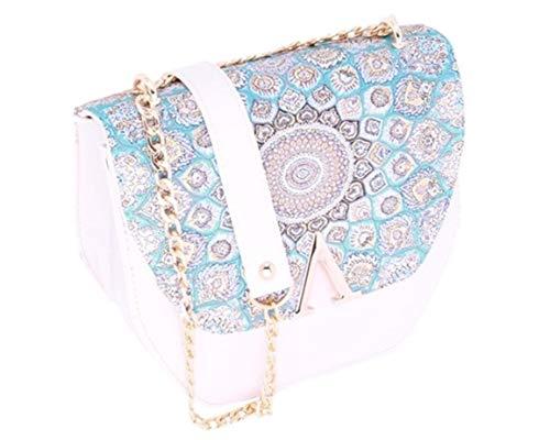 men Vintage-Handtaschen, Kette, Schultertasche für Damen, türkisches Kilim-Design, bestickt, Teppich Stil, Abendtasche, Hochzeit, Clutch ()