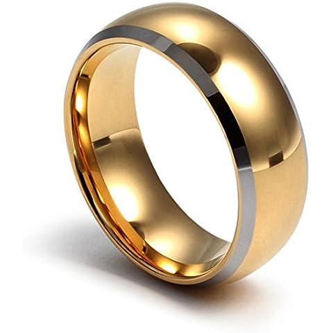 Y&XL&H Nuevo 2016 simple delicado tungsteno oro titanio anillo de acero