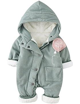Ghope Baby Strampler Winter Verdickter Baumwollmantel Fleecemantel Unisex Neugeborene Gefüttert Warm Outdoorjacke...