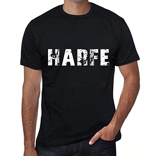 Harfe Herren T-Shirt Schwarz Geburtstag Geschenk 00548