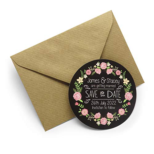 Sample Personalised Save the Date Magnets with Envelopes / Any Design - 70mm by Heartstring Design